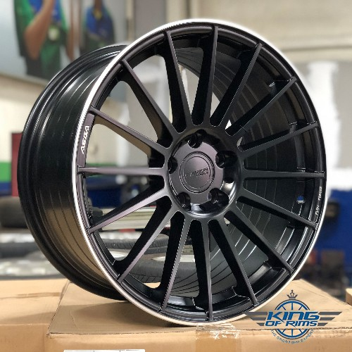 Asga Wheels (Matt Black) FLOW FORGED